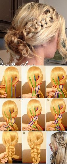How to Make a Celtic Braid DIY step-by-step instructions with excellent photos. UpDo, Up Do, formal, flirty, princess, wedding, work hair, casual, add accessories!