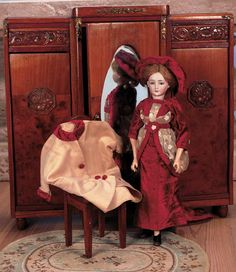 Images: 38 Rare German Bisque Lady Doll,1469,by Simon and Halbig in Original Costume