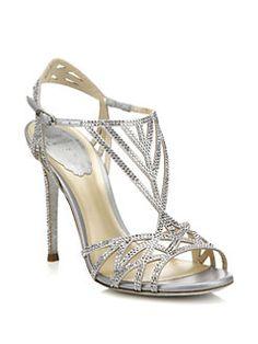 Rene Caovilla - Geometric Strass Leather Sandals