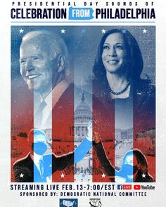 """🚨SAVE THE DATE!!!🚨February 13th at 7pm/ET you're invited to join #NABFEME and the Democratic National Committee for """"Presidential Day Sounds of Celebration from Philadelphia!"""" Music, Performances, Spoken Word artists and more... a celebration you don't want to miss! Philadelphia Music, Democratic National Committee, National Association, Spoken Word, Youre Invited, Save The Date, February, Celebration, Join"""