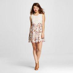Women's  Lace-to-Woven Shift Dress  – Xhilaration™  (Juniors')