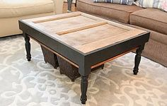 coffee table from old wood door