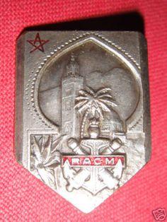 colonial artillery regiment badge in Morocco - 1945