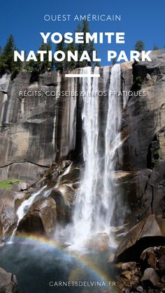 Les carnets d'Elvina - Blog voyage & culinaire Yosemite national park - en 2 jours ! Récits, conseils & infos pratiques Road Trip Usa, Blog Voyage, Waterfall, Paradis, Coin, Outdoor, Food Trip, Notebooks, Park