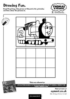 Enjoy this Thomas and Friends Activity Sheet for Children. Copy the picture of Edward and colour him in! Thomas and his friends have been entertaining children with their classic rail adventures since 1945.  Have more fun with Thomas with an exiting range of storybooks based on the TV shows, like Thomas and Friends: The Snowy Special.
