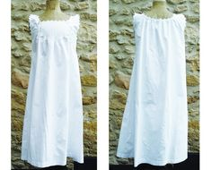 Robe d'Eté,Robe Brodée,Robe Femme,Robe Vintage,Robe de Plage,Tunique Eté Blanc Habit Ancien,Romantique Bohème Coton Bio Broderie Shabby Chic Robes Vintage, Vintage Dresses, Summer Tunics, Summer Dresses, Invisible Stitch, Old Dresses, Coton Bio, Antique Clothing, Shabby Chic