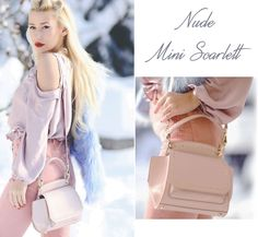 The nude mini Scarlett leather bag is feminine and extremely chic, made of natural leather @comenziwildinga