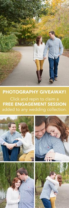 Stephanie Benge Photography | Engagement Session Giveaway | Click to claim your FREE ENGAGEMENT SESSION added to any wedding collection