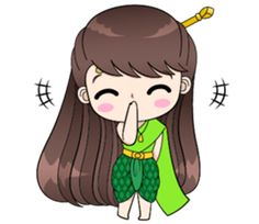 Boobib in traditional thai girl style. She is lovely, funny and cute. Let's her make your chat full of fun. Cute Couple Cartoon, Cute Cartoon, Retro Girls, Girls 4, Animated Emoticons, Line Store, Line Sticker, Disney Pictures, Cute Couples