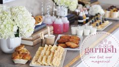 "shut the front door, folks. this website has great ideas to ""garnish"" your table AND you can shop for the items too...   Garnish - our first ever magazine"