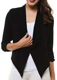 HyBrid Womens Casual Work Office Open Front Cardigan Blazer Jacket Made in USA - http://www.darrenblogs.com/2016/08/hybrid-womens-casual-work-office-open-front-cardigan-blazer-jacket-made-in-usa/