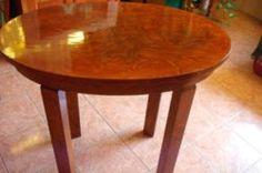 Art deco ovális asztal felújított