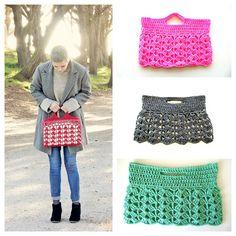 Crochet pattern for laptop bag sleeve w handle