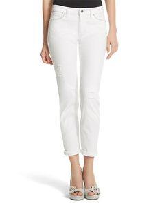 White House | Black Market Saint Honore Girlfriend White Jean #whbm - Love these!