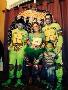 Ninja turtle family costume Superhero Party Costume, Adult Superhero Party, Group Halloween Costumes For Adults, Girl Group Costumes, Family Costumes, Family Halloween, Couple Halloween Costumes, Woman Costumes, Pirate Costumes