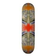 One of the extreme skateboards designed today - with intricate complex design elements and summer colors.