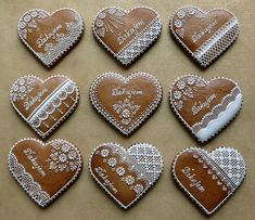 Christmas Gingerbread, Royal Icing, Cookie Decorating, Valentines Day, Hearts, Dots, Sweets, Cookies, Winter