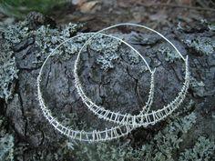 Earrings: silver wire 2013 Wire, Earrings, How To Make, Silver, Jewelry, Ear Rings, Stud Earrings, Jewlery, Jewerly