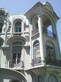 """""""Chile Hotel"""" - 1907  Arq. Louis Dubois Belle Epoque, Art Nouveau Arquitectura, Art Nouveau Illustration, Estilo Art Deco, Sims House, South America Travel, Architecture Old, Commercial Design, Chile"""