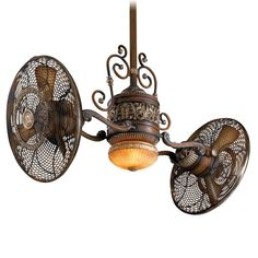 Fun to look at! Minka Aire Gyro Belcaro Walnut Ceiling Fan - Steampunk/Victorian look! Victorian Ceiling Fans, Antique Ceiling Fans, Casa Steampunk, Steampunk Theme, Steampunk Bedroom, Steampunk Kitchen, Industrial Light Fixtures, Industrial Lighting, Industrial Style