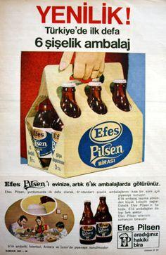 OĞUZ TOPOĞLU : efes pilsen altılı ambalaj 1970 senesi nostaljik e...