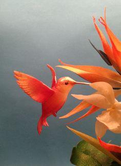 Little bird from wafer paper