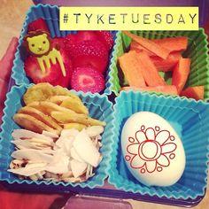 #tyketuesday  Strawberries. Carrots. Plantain chips. Coconut flakes/almond slices. Hard boiled egg. Spring Break is defiantly over!!  #paleo #hashtagpaleo #kidapproved #grainfree #dairyfree #jerf #progressnotperfection #liontime #gerrrrrrr #schooldays #schoollunch #bentobox K