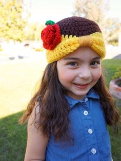 Princess Belle crochet beanie - Beauty and the Beast Disney character hat (affiliate link)