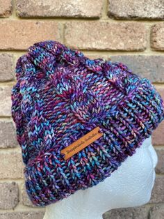 Excited to share this item from my #etsy shop: Purple cable knitted beanie ladies green blue pink rainbow beanie mens winter beanie knitted beanie cable fair trade Mens Winter Beanies, Blue Green, Purple, Pink, Knit Beanie, Knit Patterns, Etsy Handmade, Fair Trade, Cable Knit