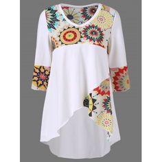 GET $50 NOW | Join Dresslily: Get YOUR $50 NOW!http://m.dresslily.com/high-low-hem-graphic-longline-t-shirt-product1981333.html?seid=j4376EG2C0tnf5Ul6j51E0vnp0
