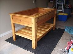 Cedar Raised Garden Box- We are building one for a winter garden. I can't wait to plant some vegetables!