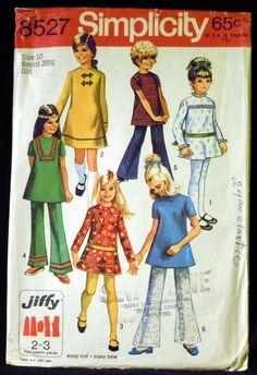 Vintage 1969 Simplicity Girl's Jiffy Dress or Tunic