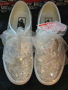 Wedding Vans, Wedding Sneakers, Bling Wedding, Crystal Wedding, Wedding Shoes, Dream Wedding, Zapatos Bling Bling, Bling Converse, Bling Shoes
