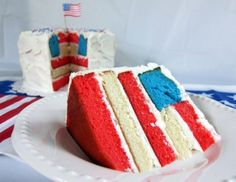 Cut into this flag cake on America's birthday.