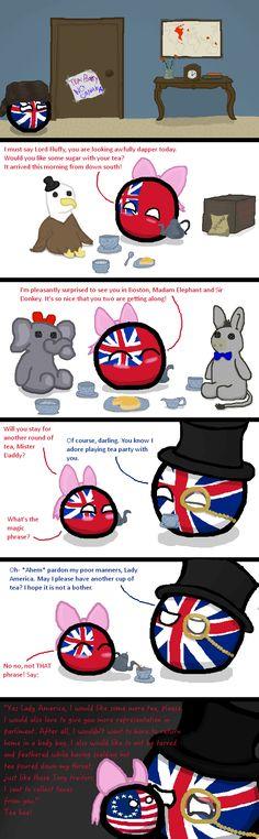 Polandball - The Tea Party