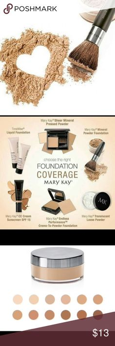 Mary Kay Mineral Powder Foundation Mary Kay® Mineral Powder Foundation is a weightless, skin-perfecting powder that makes lines, wrinkles and other imperfections seem to disappear. You get the coverage of a foundation with the comfort of a powder. Buildable coverage blends effortlessly with the sweep of a brush for a flawless look. Mary Kay Makeup Foundation
