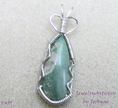 Wire Wrapped Pendant  Sterling Handmade by JewelryArtistry on Etsy, $40.00