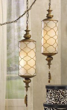 Moroccan Swag Lamp w/tassel