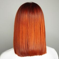 Shiny copper red looks sleek and chic. Wella colour created by Kai Sohn.