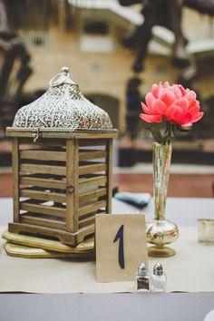 classic table number, photo by Jason Hales Photography http://ruffledblog.com/fernbank-museum-wedding #weddingideas #tablenumbers #kraft