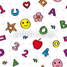 Clipart Of A Seamless Numbers Letters And Stars Education Pattern Small Letters, Alpha Patterns, Surface Pattern Design, Vector Pattern, Vector File, Hello Kitty, Childhood, Clip Art, Kids Rugs