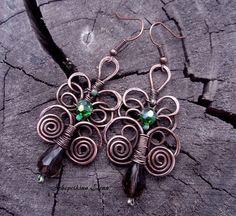 tree of life earrings in wire