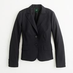 J.Crew Factory suiting blazer in lightweight wool:  The classic black suit never goes out of style.