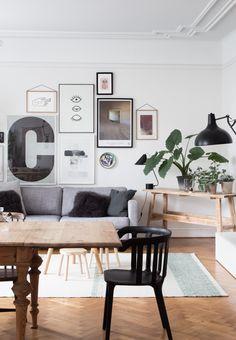 Get the look: inspiring sitting room and dining area of an interior designerphoto- Niki Brantmark - My Scandinavian Home. Styling - Genevieve Jorn.