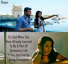 #Fact :( Favorite Movie Quotes, Best Quotes, Movie Songs, I Movie, Tamil Love Quotes, Touching Words, Girl Facts, Learning To Be, Love You All