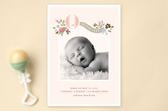 Fairy Tale Beginnings Birth Announcements by Jennifer Wick at minted.com