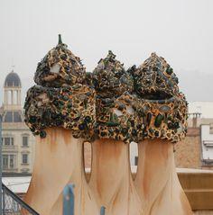 Gaudi Chimney - Casa Mila, La Pedrera-Barcelona