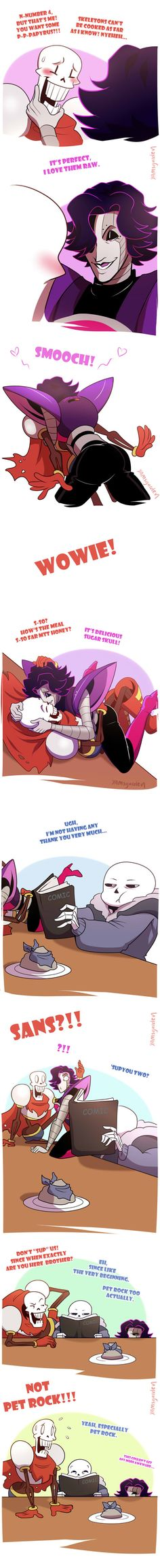 Papyrus on the menu Part 2 by YAMsgarden on DeviantArt