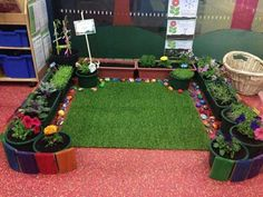 An indoor garden at The Little Unicorn Honeysuckle - image shared by International Child Care College. Can also be used as a reading area.