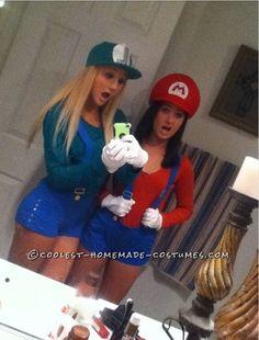 Mario and Luigi Girly Style Costumes... 2014 Halloween Costume Contest